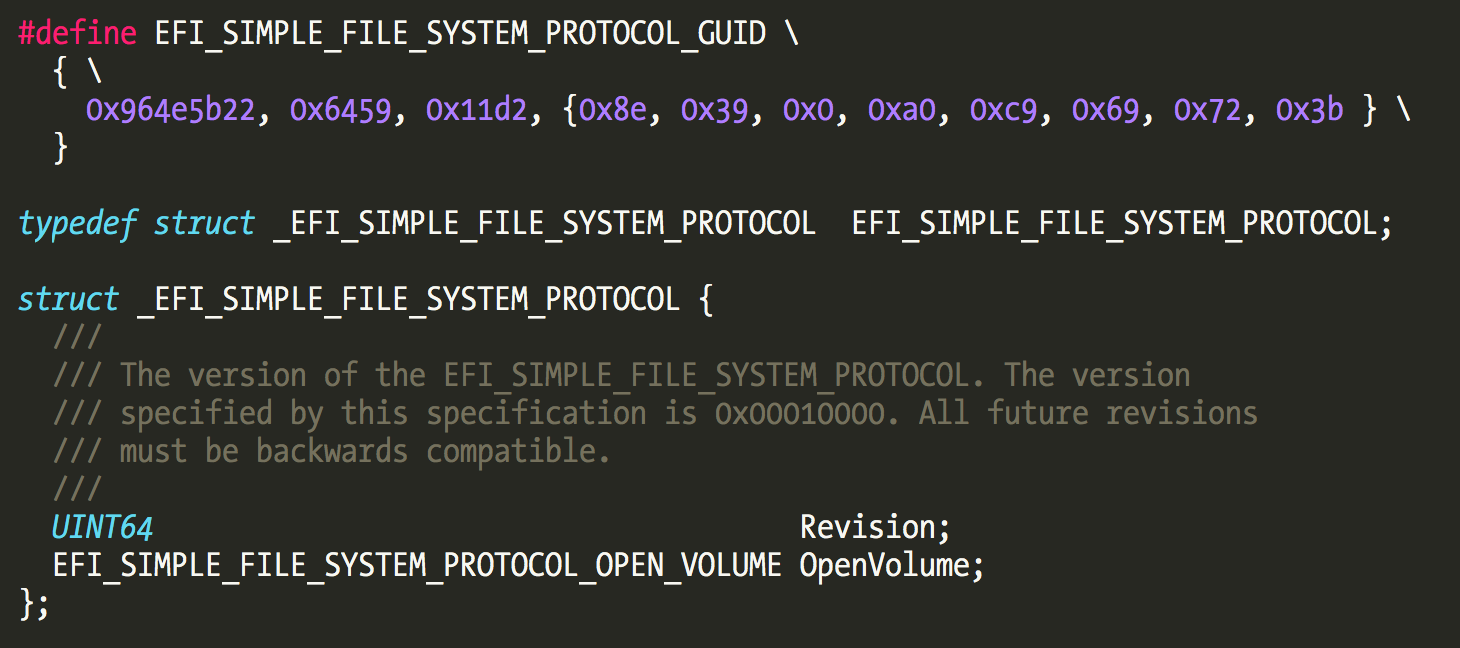 efi simple file system protocol