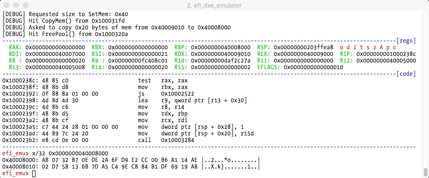 hash debugger result